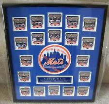 2009 CitiField 1st Appearance framed pin set with patch NY New York Mets