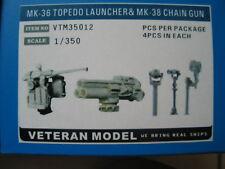 Veteran 1/350 MK-36 TOPEDO LAUNCHER& MK-25 CHAIN GUN resin upgard
