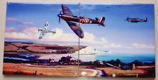 Battle of Britain - Downed Me109 and Spitfire  Ltd EdT SET of 2 CERAMIC TILES