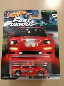 New Hot Wheels Premium Fast & Furious 1995 MAZDA RX-7 1:64 Real Riders