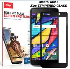 Zizo Full Edge-to-Edge Black TEMPERED GLASS Screen Protector For Alcatel Idol 5