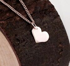 Solid 9ct 9k Rose Pink Gold Solid Heart Pendant or Charm Engravable Medium