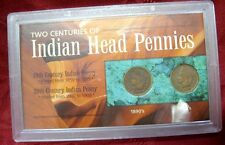 2 COIN LOT TWO CENTURIES OF INDIAN HEAD PENNIES 1890'S 1900'S COLLECTION SET