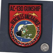 AC-130 HERCULES UNCHAINED USAF C-130 Hercules Gunship Squadron Aircraft Patch