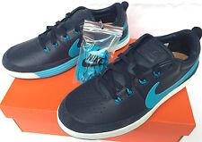 Nike Golf Lunarwaverly 652780-400 Obsidian Leather Waffle Golf Shoes Men's 7.5