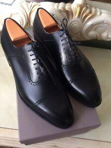 J.M.Weston Oxford Shoes In Black , Size 10E