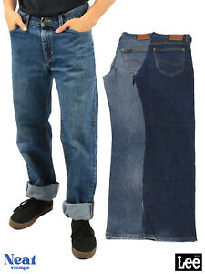 Vintage Lee Brooklyn Jeans Straight Leg Comfort Regular Fit Size W30 W32 W34 W36