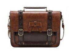 Handbag Briefcase Vintage Crossbody Messenger Shoulder Satchel Women Leather