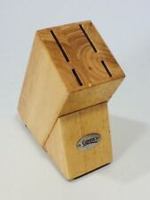 Genuine Ginsu Knife Block Four 4 Slot Wood Accessory Kitchen Bamboo Block Only
