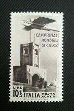 CALCIO 1934 - LIRE 10 + 5 DI POSTA AEREA, NUOVO CON GOMMA INTEGRA++