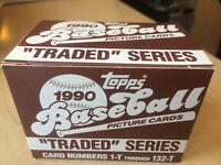 1990 Topps Traded Baseball Complete Factory Set in Box - #1-132 132 Cards
