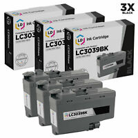 LD Compatible Brother LC3039BK Ultra High Yield Black Ink Cartridges 3-Pack