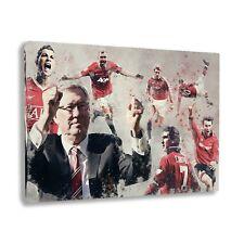 Manchester United Legends Framed Canvas Print