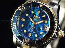 New Invicta 38mm DIAMOND GRAND DIVER Automatic Lim.Ed. Blue Abalone 300M Watch