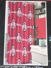 NFL 72 X 72 Inch Fabric Shower Curtain Ohio State Buckeyes