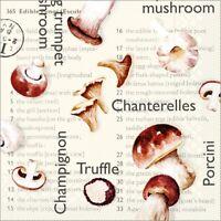 Serviette Pilze in braun  aus Tissue 33 x 33 cm, 100 Stück