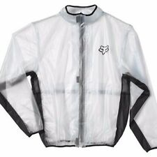 Fox Racing 2016 MX Track Fluid Jacket Clear PVC Rain Jacket SIZE XL