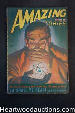 """Amazing Stories"" August 1947 ""So Shall Ye Reap!"" by Rog Phillips"