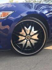 22 X 9.5 Csquared C20 Black Machine Wheels rims & Tires fit 5 X 114.3 Mustang