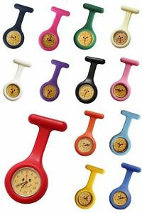 Silicone Smiley Face Nurse Doctor Paramedic Tunic Brooch Fob Watch Medical Watch