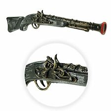 steampunk gris brun PIRATE PISTOLET long ARMES 49cm LARP plastique