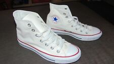 Converse Chuck Taylor All Stars High Top Trainers Shoes UK6 EU39 White BNWoB