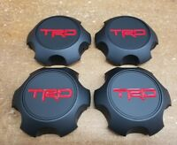 Toyota TRD Matte Black Center Cap Set Tacoma 4Runner FJ Cruiser PTR20-35111-BK