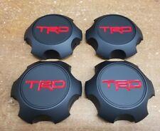 Toyota TRD Matte Black Center Cap Set Tacoma 4Runner FJ Cruiser PTR20-35111-BK