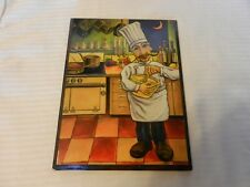"""Rafuse Decoupage Print """"Henri"""" The Chef by Will Rafuse, #1 of 4 Mounted on Wood"""