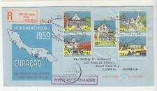 NETHERLANDS ANTILLES,1959 Monument's Preservation Fund set of 5, First Day cover