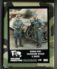 VERLINDEN 992 - GERMAN WWII VOLKSSTURM OFFICER & TANKER - 1/35 RESIN KIT