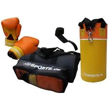 ScSPORTS® Boxsack Set Kinder gefüllt 3 kg Sandsack Boxhandschuhe Bandagen Boxset