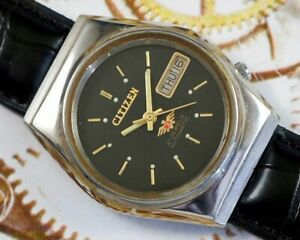 VINTAGE CITIZEN CAL.8200 AUTOMATIC DAY/DATE JAPAN MEN'S OLD USED WATCH #280430