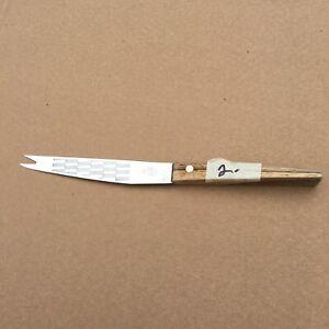 Vintage Friodur JA Henckels Germany Utility Knife 6inch Wood Handle Silver Brown