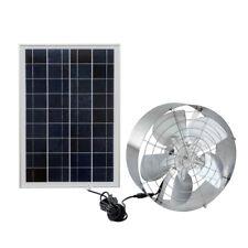 "65W 12.6"" Solar Exhaust Vent Fan Cooler w/ 25W Solar Panel for Bathroom Kitchen"