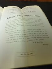 Old Staffordshire / Derbyshire Document Netherseal Colliery Memo 1890