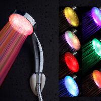 Handheld 7 Color LED Romantic Light Water Bath Home Bathroom Shower Head Glow