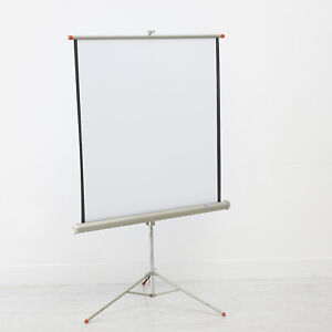 ARROW SLIDE CINE FILM PROJECTION SCREEN ON TRIPOD COLLAPSIBLE FOR EASY STORAGE