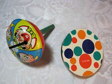 1950's 60's Vintage Party Noise Makers with Clowns and Colored Dots New Years