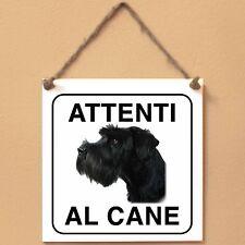 Schnauzer gigante 4 Attenti al cane Targa piastrella cartello ceramic tile dog
