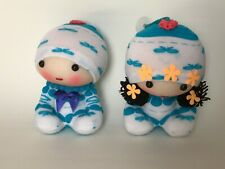Hand made doll blue and white