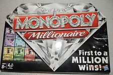 MONOPOLY MILLIONAIRE Game FIRST TO A MILLION WINS! Hasbro NIB Sealed COMPONENTS!