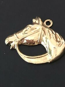 9ct Vintage Solid Gold Horse Head