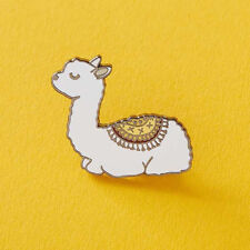 Shirt Pin Badge Brooch Women Jewel Ra_ Bu_ Cartoon Animal Alpaca Enamel Collar
