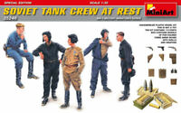 Soviet Tank Crew At Rest Special Edition Figure Plastic Kit 1:35 Model MINIART