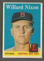 1958 Topps #395 Willard Nixon VGEX Red Sox 40243