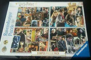 Harry Potter 4 x 100 Piece Jigsaw Puzzle Ravensburger. Bumper Box. Complete