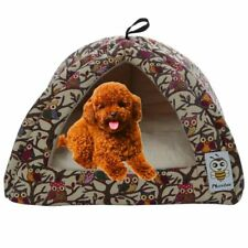 New listing Owl Canvas Puppy Bed Pet Bed Triangle Pet Dog Cat Bed Dog Animal Beds (Xa1)