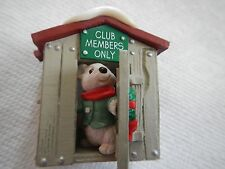 HALLMARK 1988 CLUB ORNAMENT - CLUB MEMBERS ONLY  -  OUR CLUBHOUSE - CLUB HOUSE