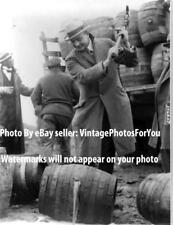 Old/Vintage 1924 Prohibition Bootlegger/Bootlegging Alcohol/Beer Destroyed Photo